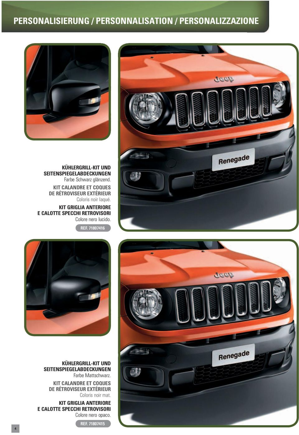 jeep renegade original zubeh r accessoires d origine. Black Bedroom Furniture Sets. Home Design Ideas