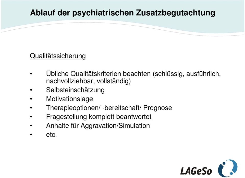 Selbsteinschätzung Motivationslage Therapieoptionen/