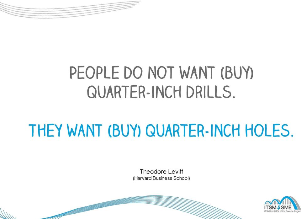 They want (buy) quarter-inch