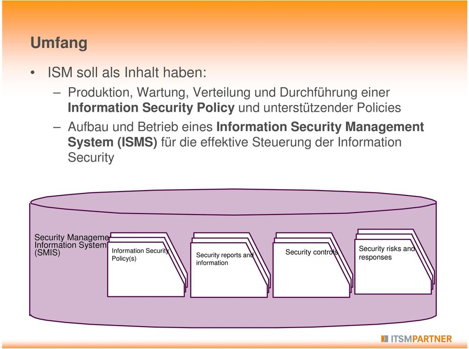 System (ISMS) für die effektive Steuerung der Information Security Security Management Information System