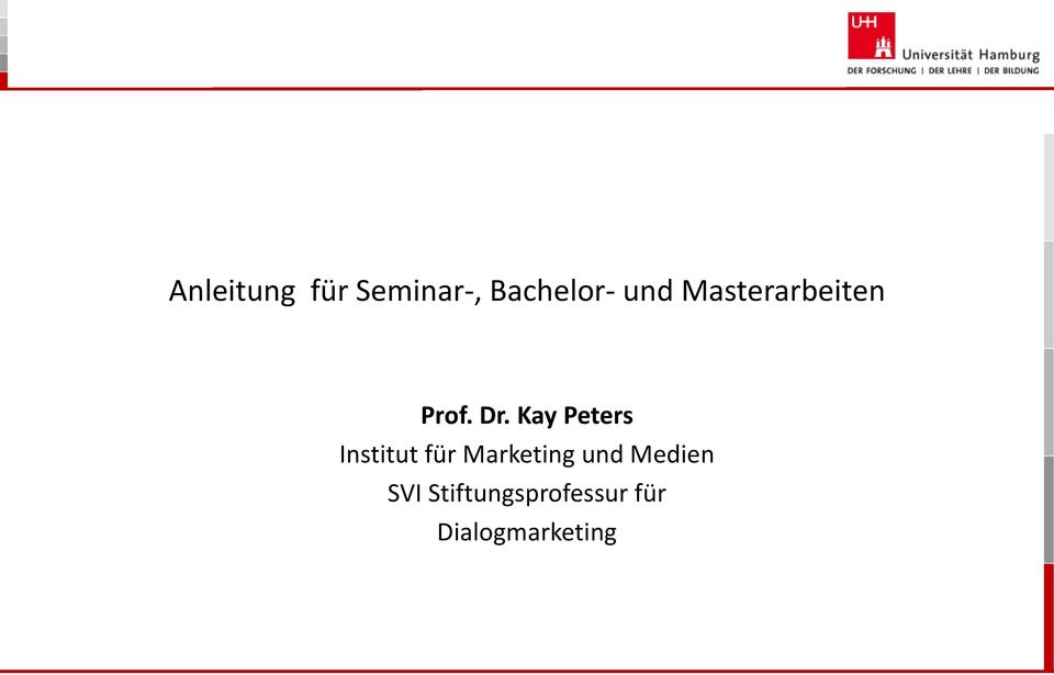 Kay Peters Institut für Marketing und