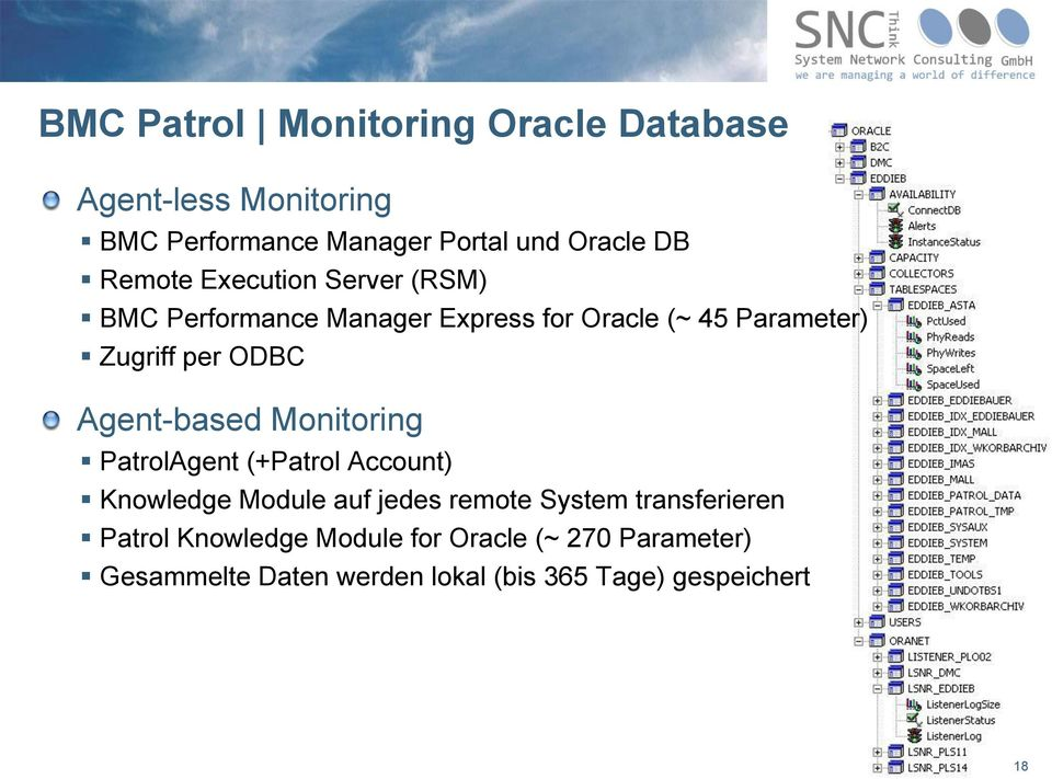 Agent-based Monitoring PatrolAgent (+Patrol Account) Knowledge Module auf jedes remote System transferieren