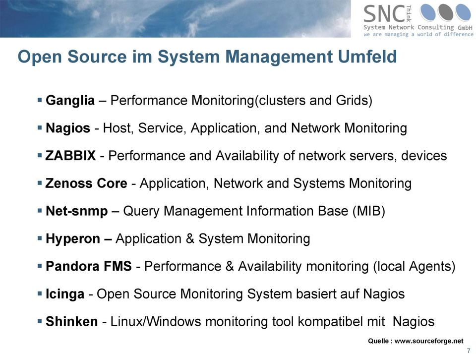 Query Management Information Base (MIB) Hyperon Application & System Monitoring Pandora FMS - Performance & Availability monitoring (local