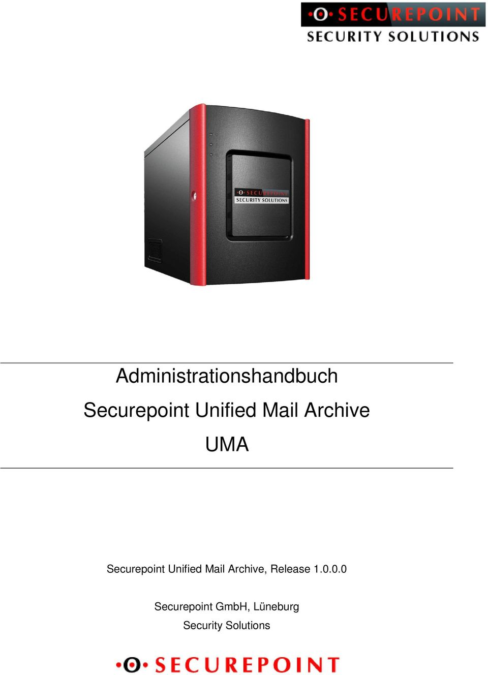 Unified Mail Archive, Release 1.0.