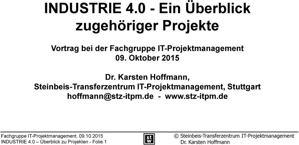 Fachgruppe IT-Projektmanagement 09.