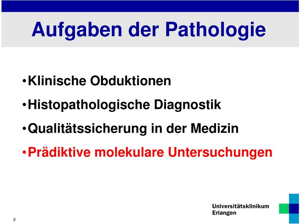 Diagnostik Qualitätssicherung in der