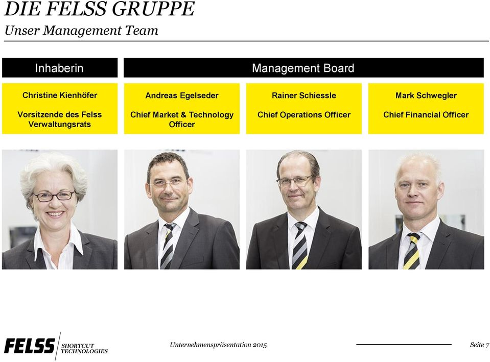 Felss Verwaltungsrats Chief Market & Technology Officer Chief