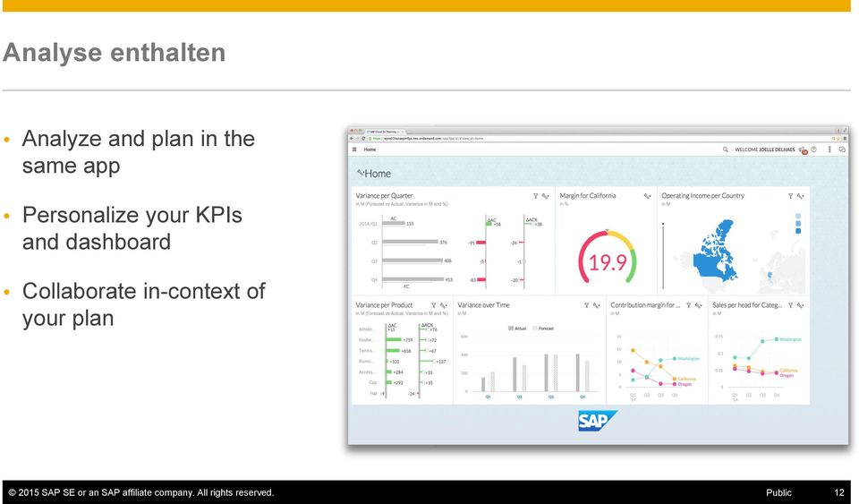 Collaborate in-context of your plan 2015 SAP SE