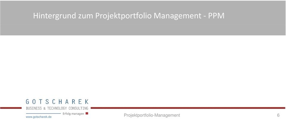 Management PPM www.