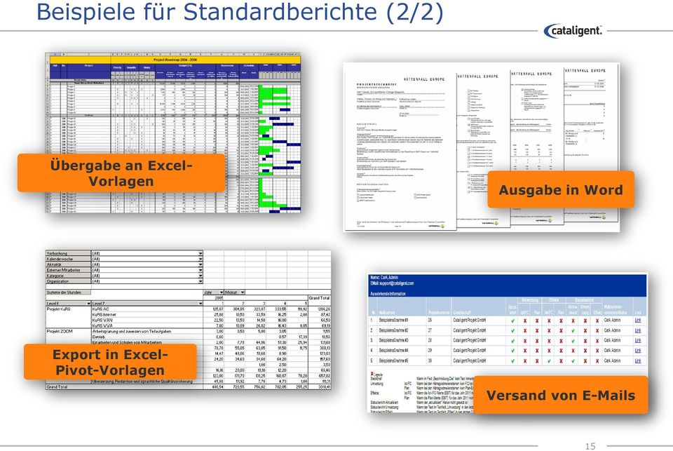 Ausgabe in Word Export in Excel-