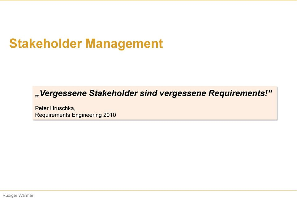 vergessene Requirements!