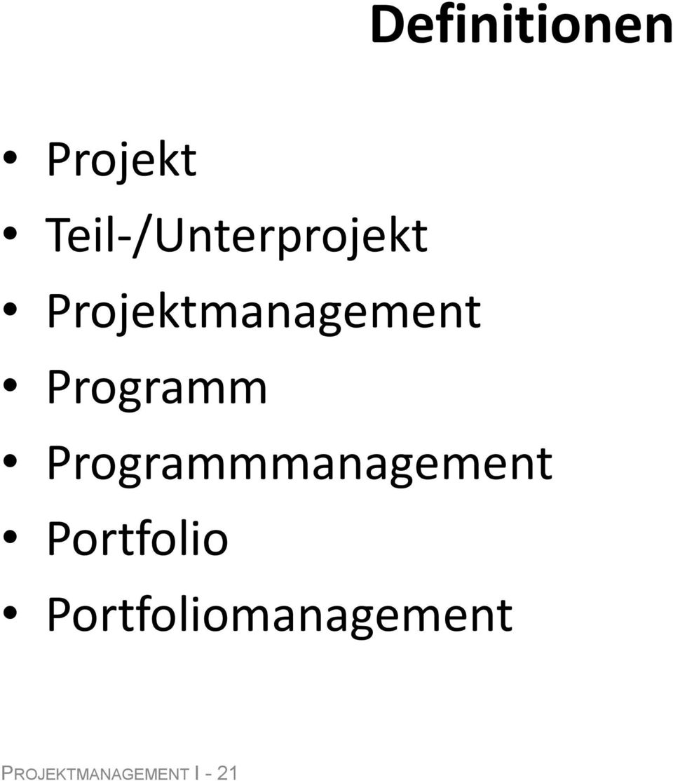 Projektmanagement Programm