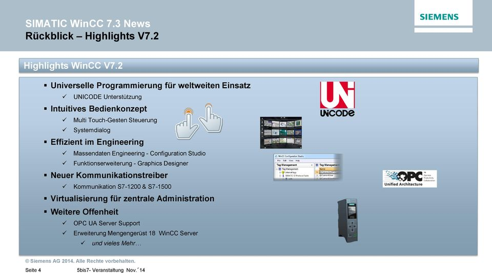 Systemdialog Effizient im Engineering Massendaten Engineering - Configuration Studio Funktionserweiterung - Graphics Designer Neuer