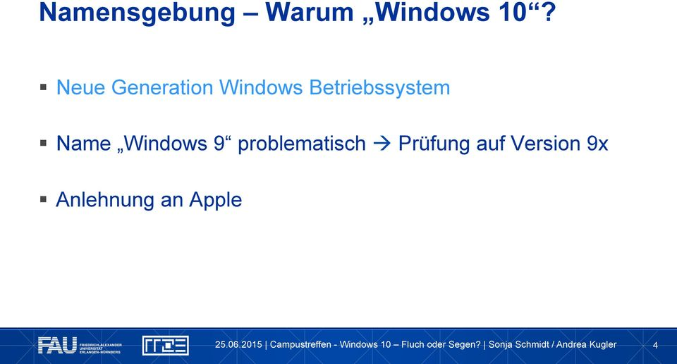 Betriebssystem Name Windows 9