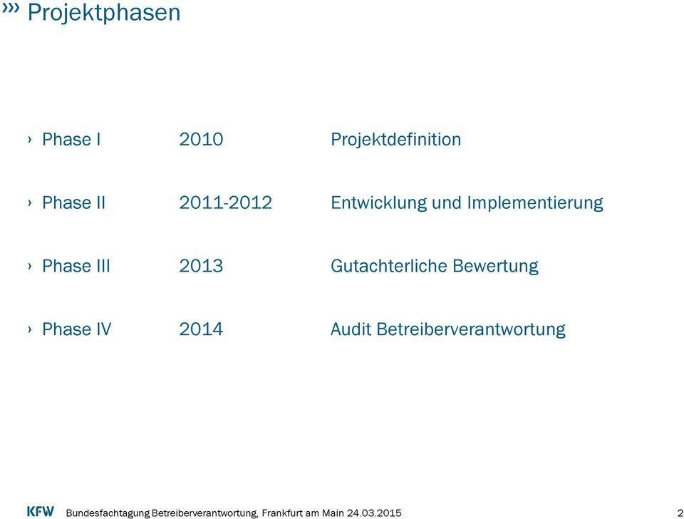 Implementierung Phase III 2013