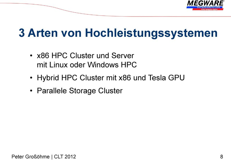 Windows HPC Hybrid HPC Cluster mit x86
