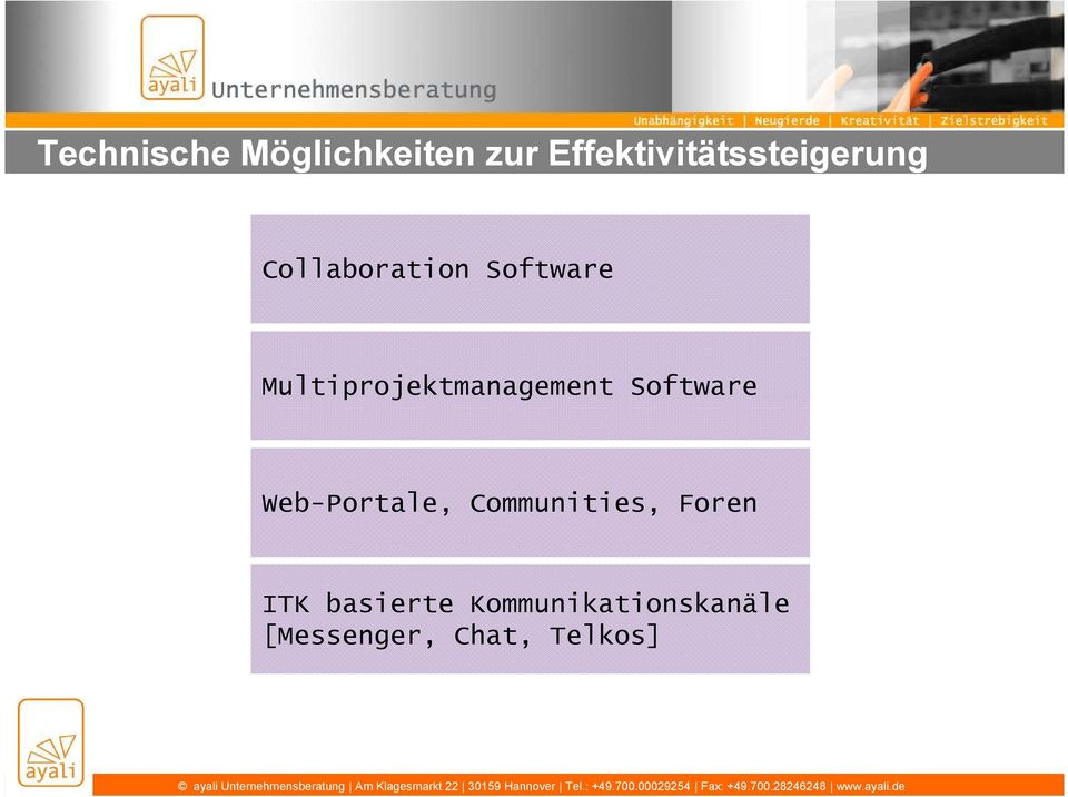 Multiprojektmanagement Software Web-Portale,