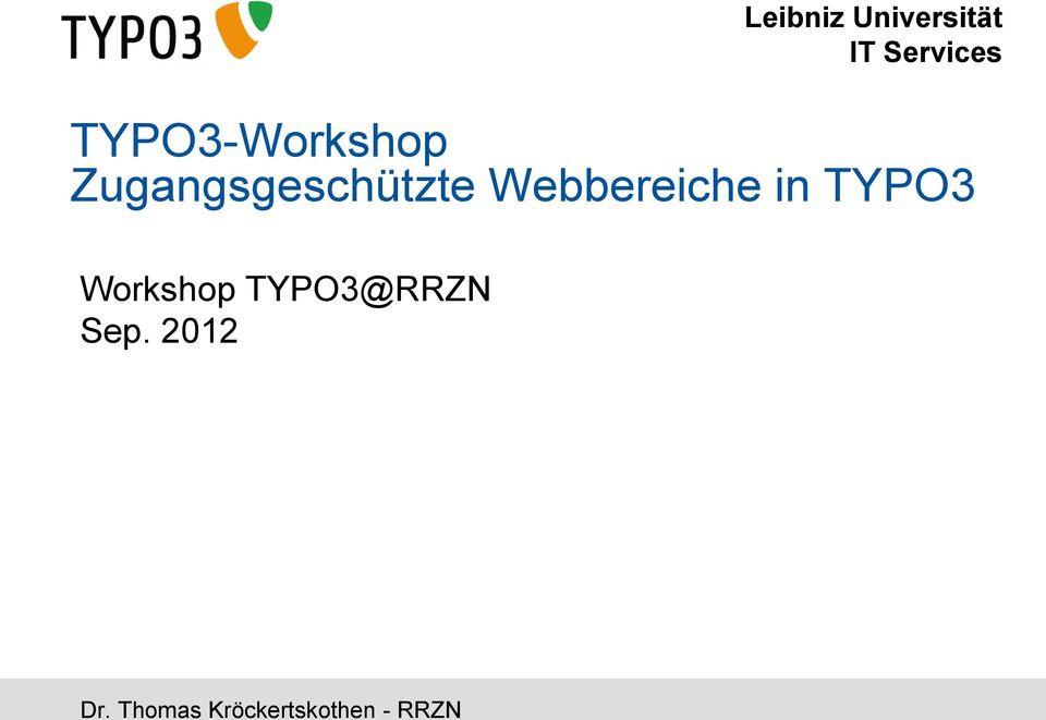 Webbereiche in TYPO3 Workshop