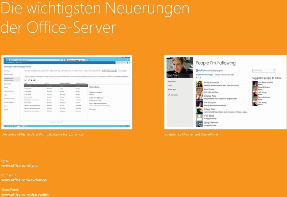 Funktionen auf SharePoint Lync: www.office.
