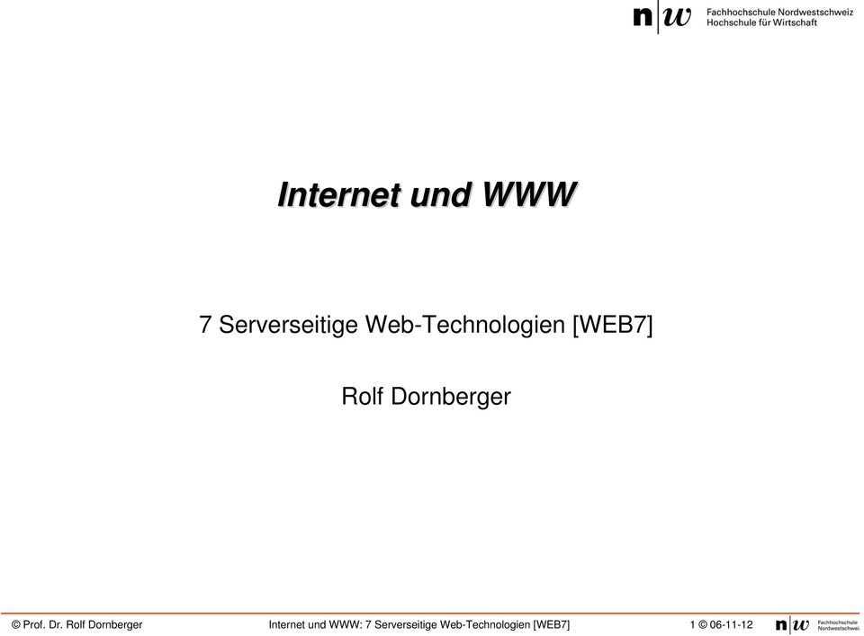 Web-Technologien