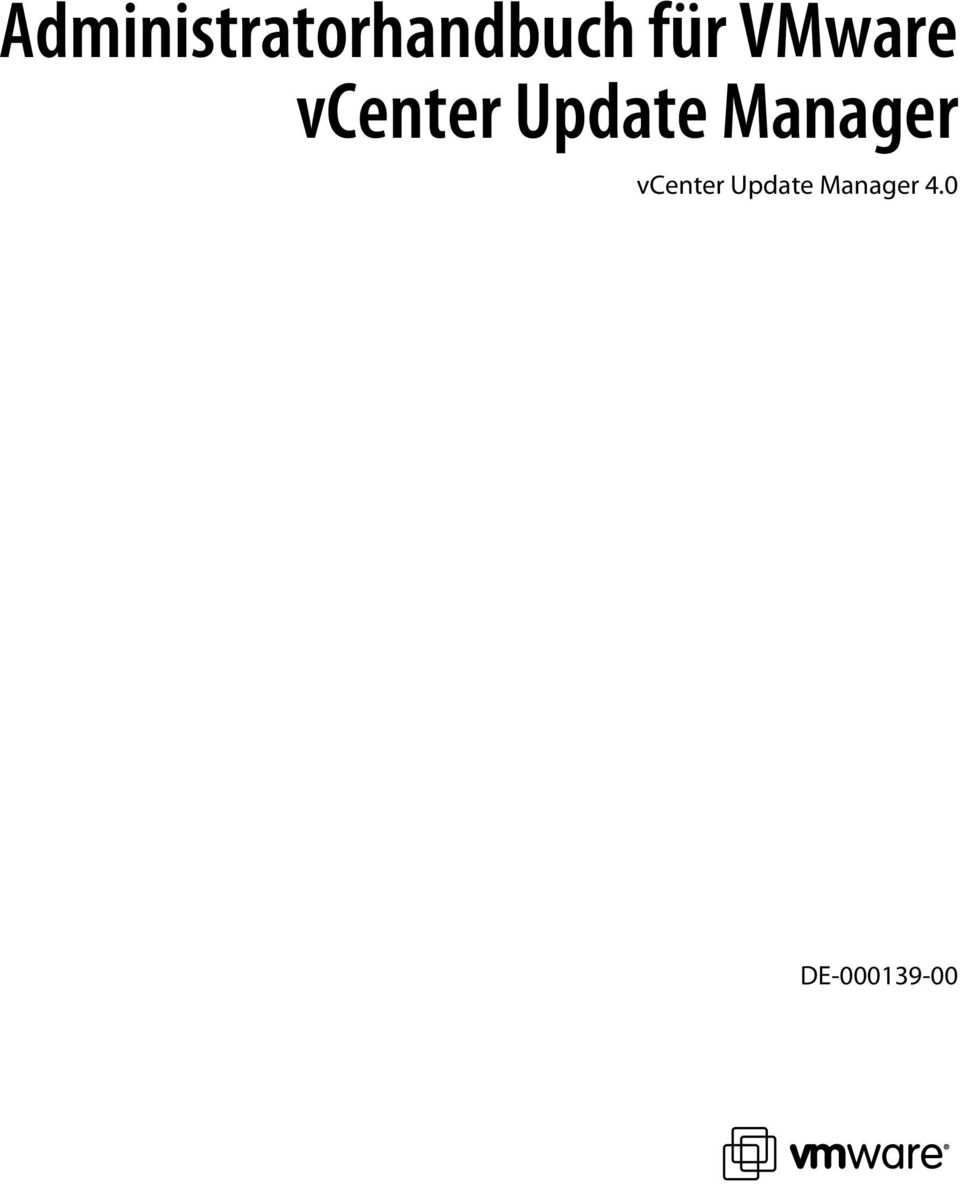 Update Manager vcenter