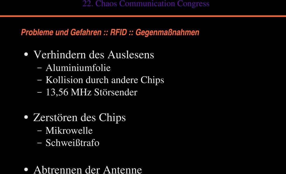 ausweis chip mikrowelle