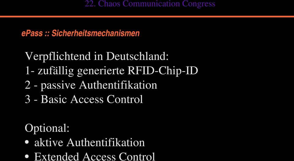 passive Authentifikation 3 Basic Access Control