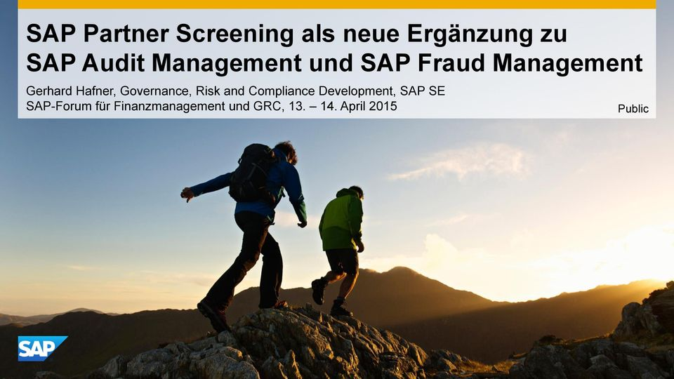 Governance, Risk and Compliance Development, SAP SE