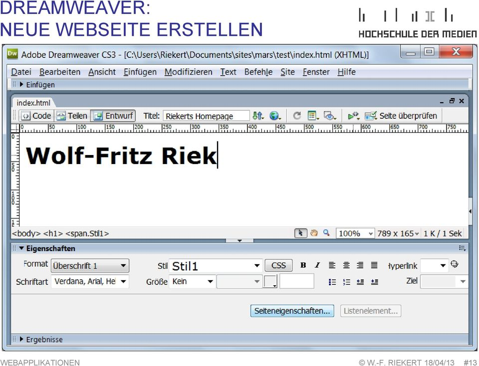 WEBAPPLIKATIONEN W.