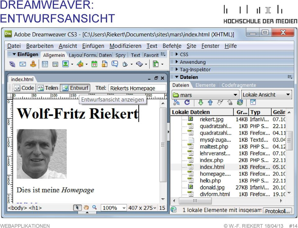WEBAPPLIKATIONEN