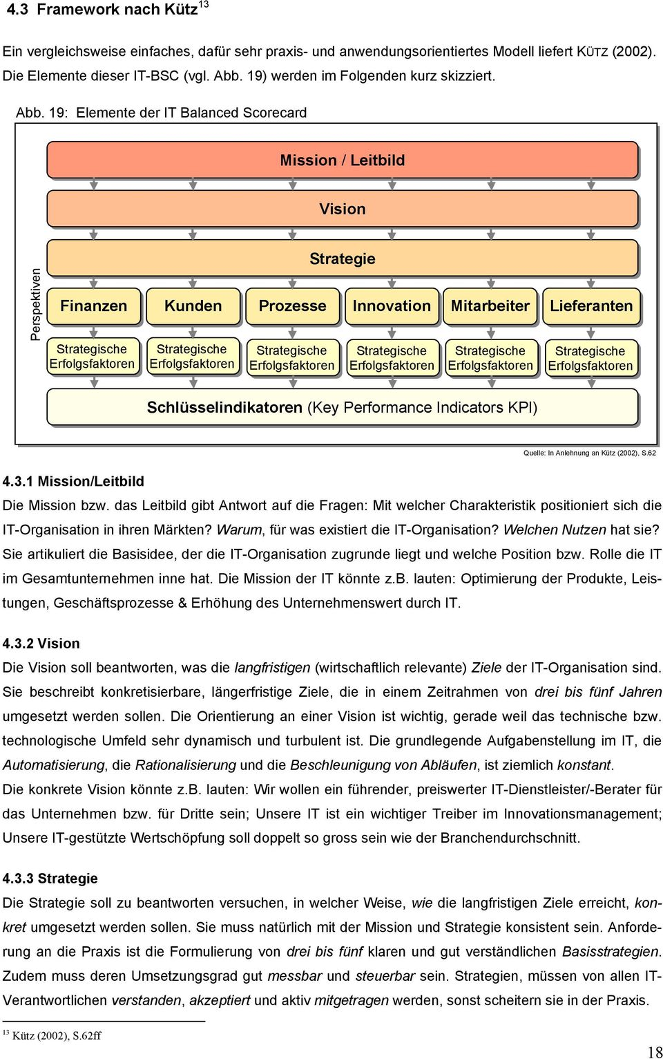 19: Elemente der IT Balanced Scorecard Mission / Leitbild Vision Perspektiven Finanzen Strategie Kunden Prozesse Innovation Mitarbeiter Lieferanten Schlüsselindikatoren (Key Performance Indicators