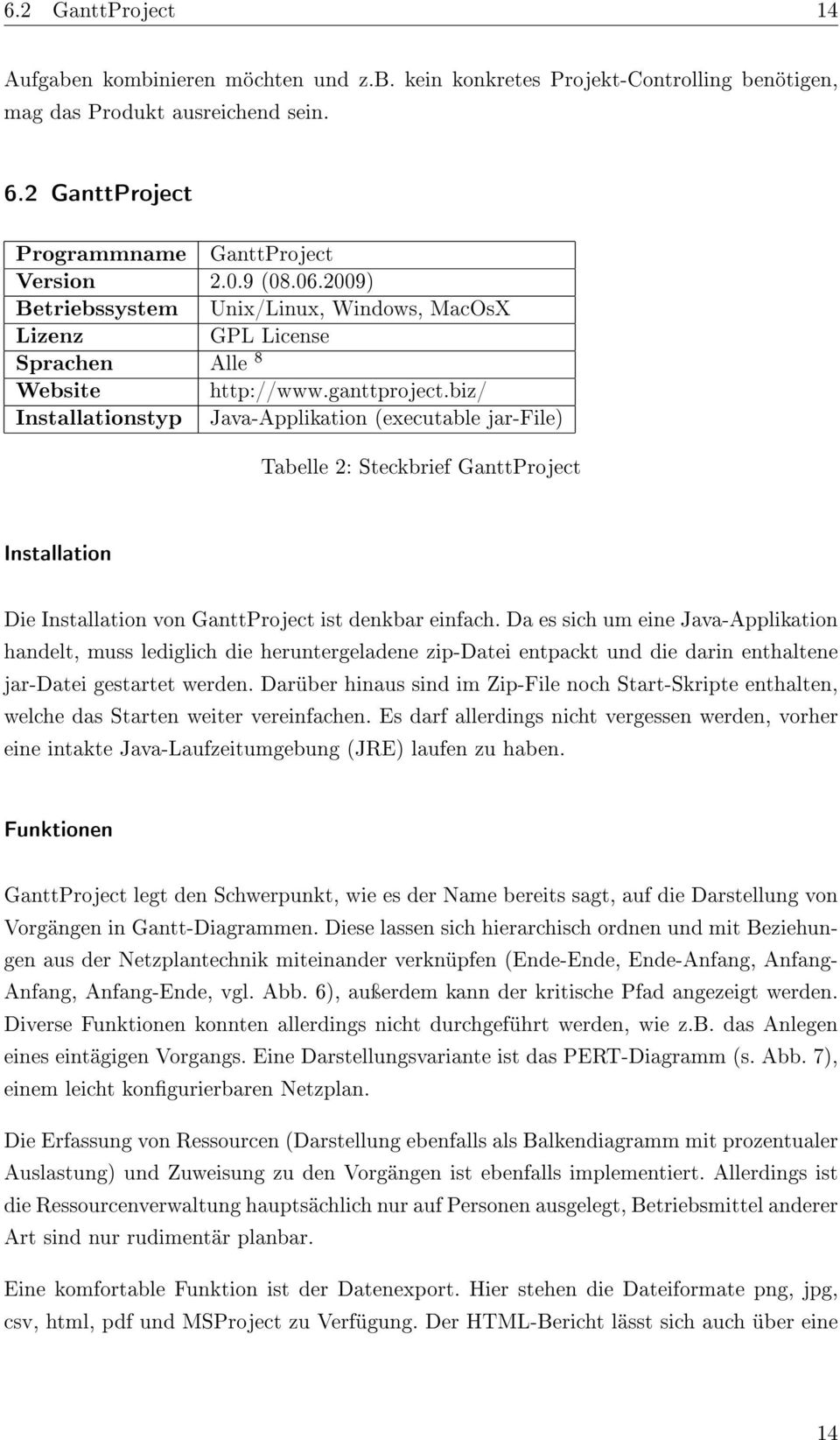 biz/ Java-Applikation (executable jar-file) Tabelle 2: Steckbrief GanttProject Installation Die Installation von GanttProject ist denkbar einfach.