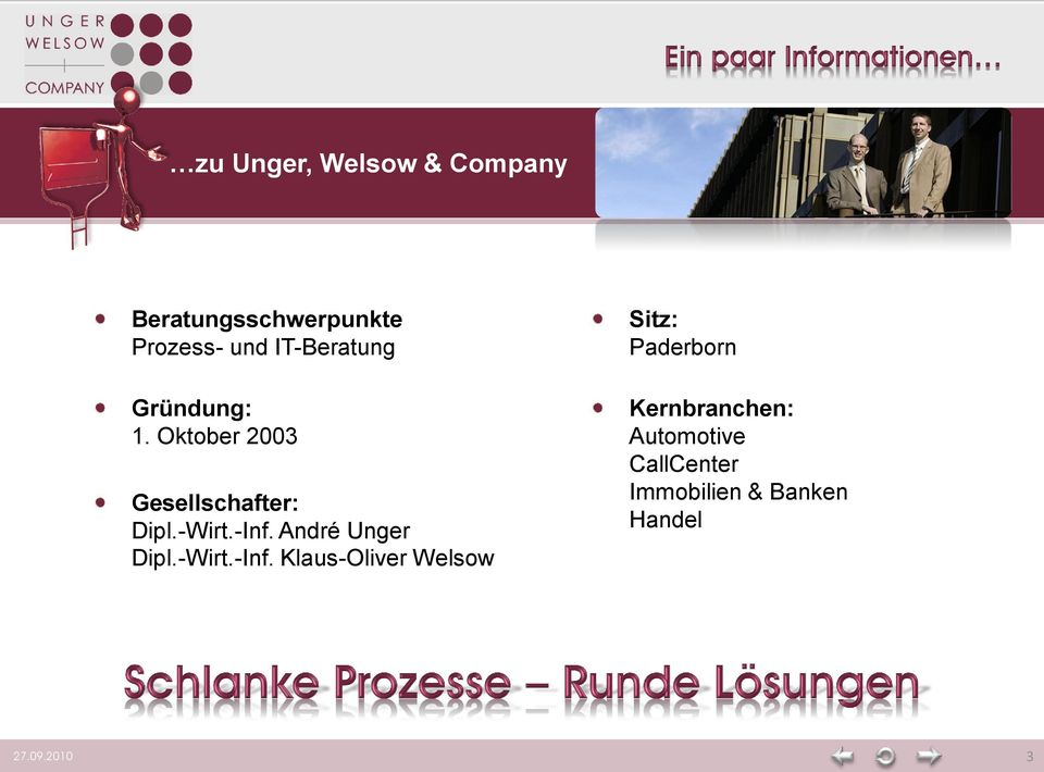 -Inf. André Unger Dipl.-Wirt.-Inf. Klaus-Oliver Welsow Sitz: