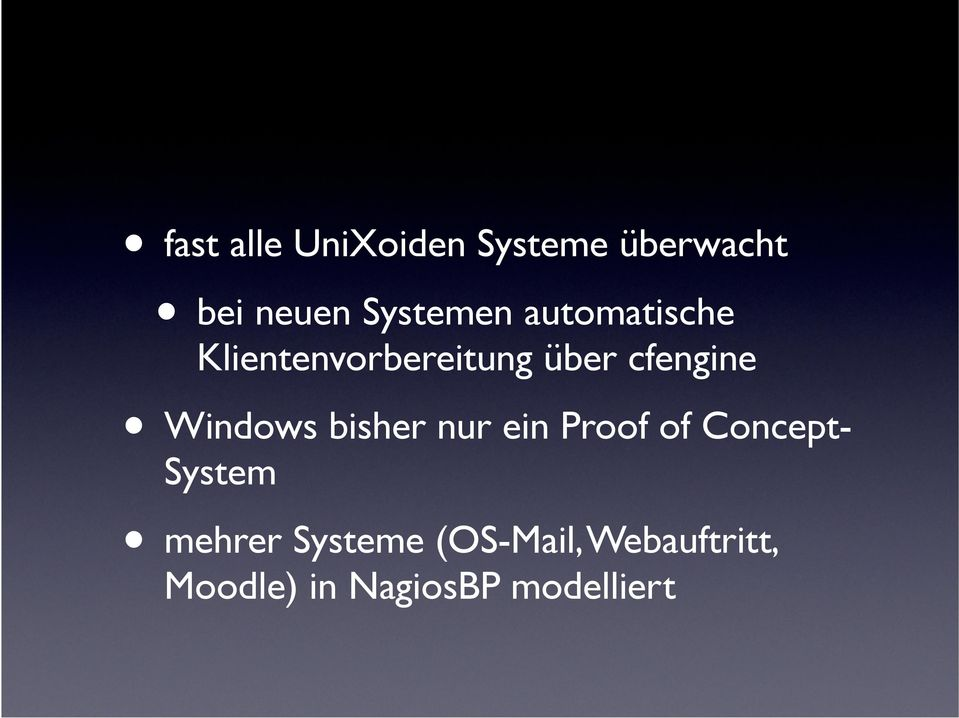 cfengine Windows bisher nur ein Proof of Concept-