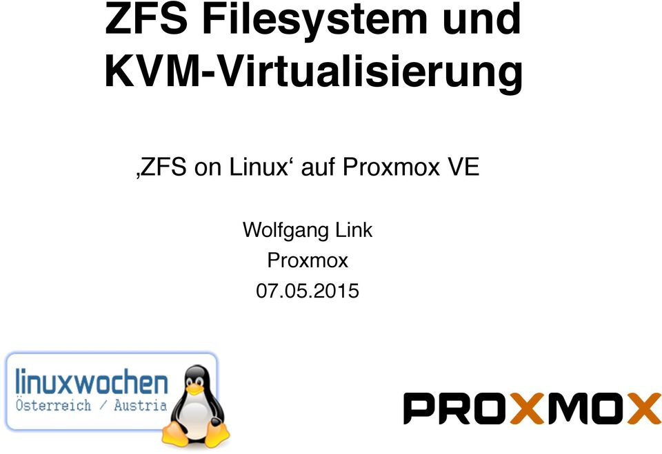 on Linux auf Proxmox VE