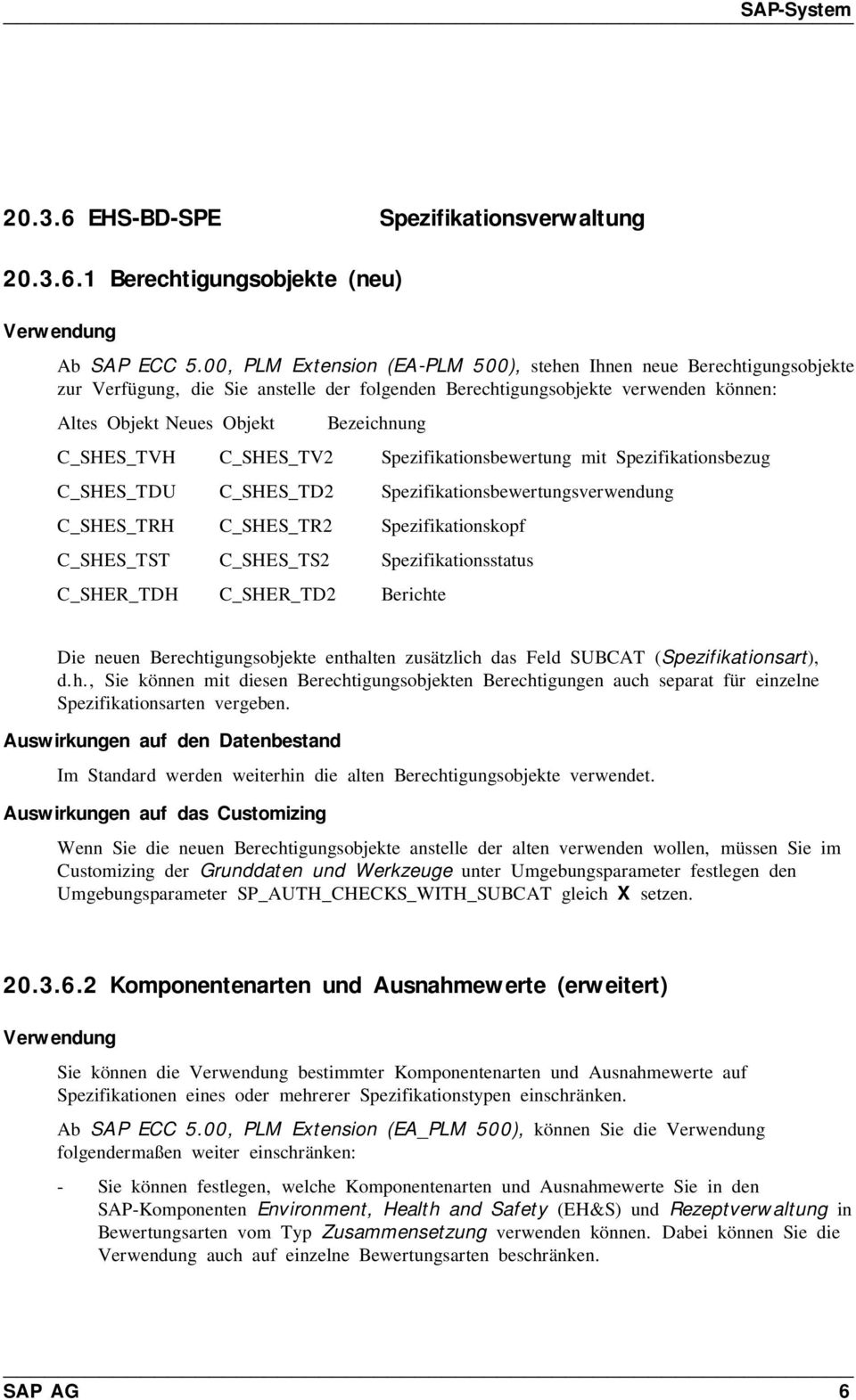 C_SHES_TVH C_SHES_TV2 Spezifikationsbewertung mit Spezifikationsbezug C_SHES_TDU C_SHES_TD2 Spezifikationsbewertungsverwendung C_SHES_TRH C_SHES_TR2 Spezifikationskopf C_SHES_TST C_SHES_TS2