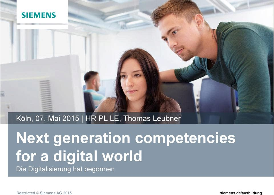 Next generation competencies for a