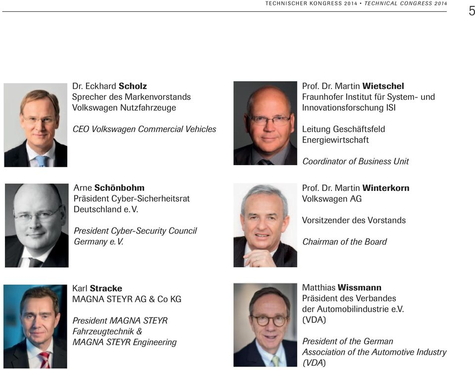 President Cyber-Security Council Germany e. V. Prof. Dr.
