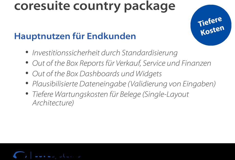 Service und Finanzen Out of the Box Dashboards und Widgets Plausibilisierte