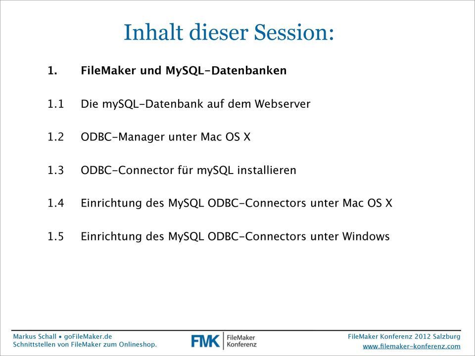 2 ODBC-Manager unter Mac OS X 1.