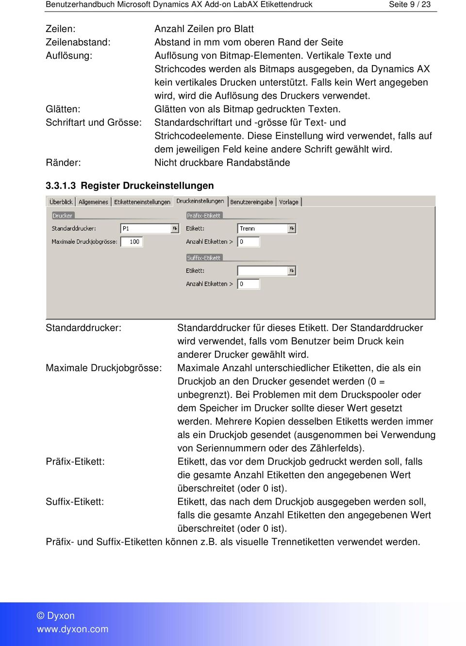 Benutzerhandbuch Microsoft Dynamics AX Add-on LabAX Etikettendruck - PDF