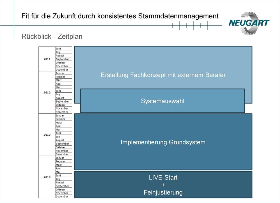 Systemauswahl Implementierung