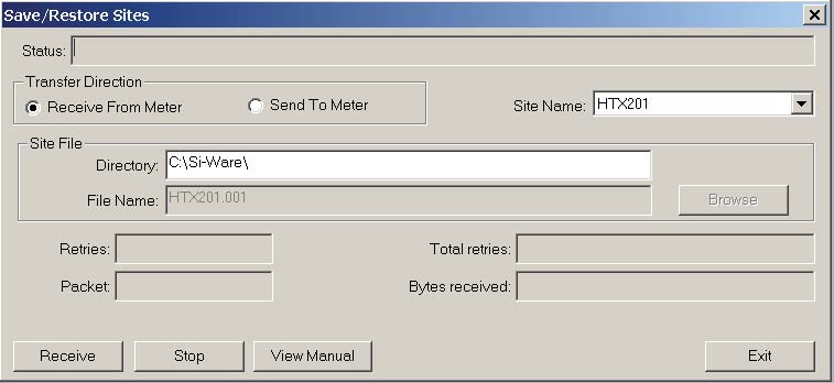 Menu Screens 4.6 Utilities Menu Load Op. Sys. This screen allows the uploading of a flowmeter operating system. Note IMPORTANT The [Load Op.