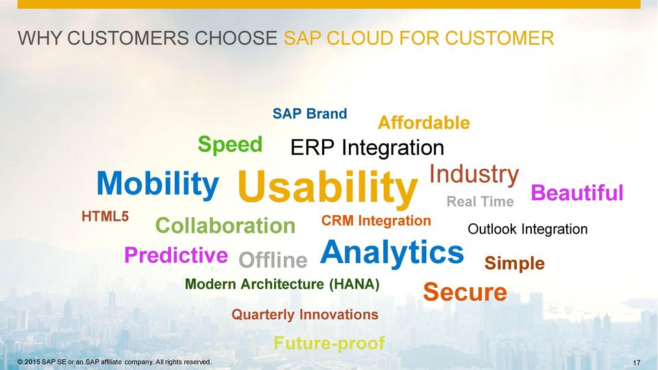 Speed Collaboration Predictive Offline SAP Brand ERP Integration Usability CRM