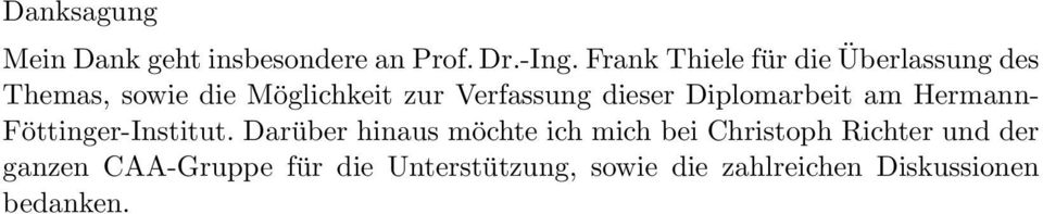 dieser Diplomarbeit am Hermann- Föttinger-Institut.