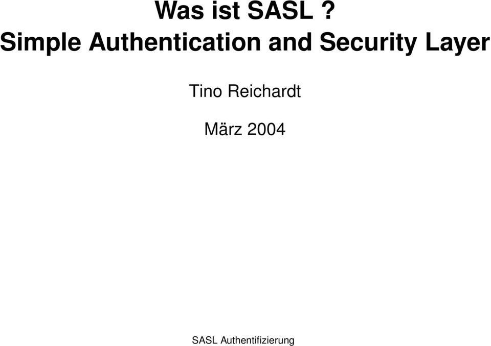Security Layer Tino
