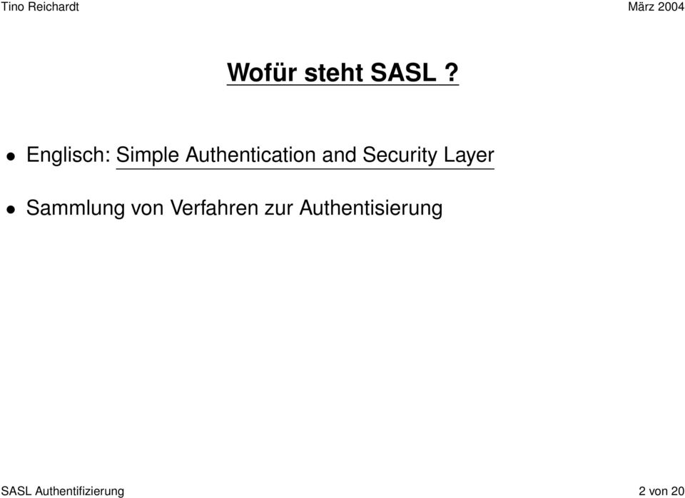 Security Layer Sammlung von