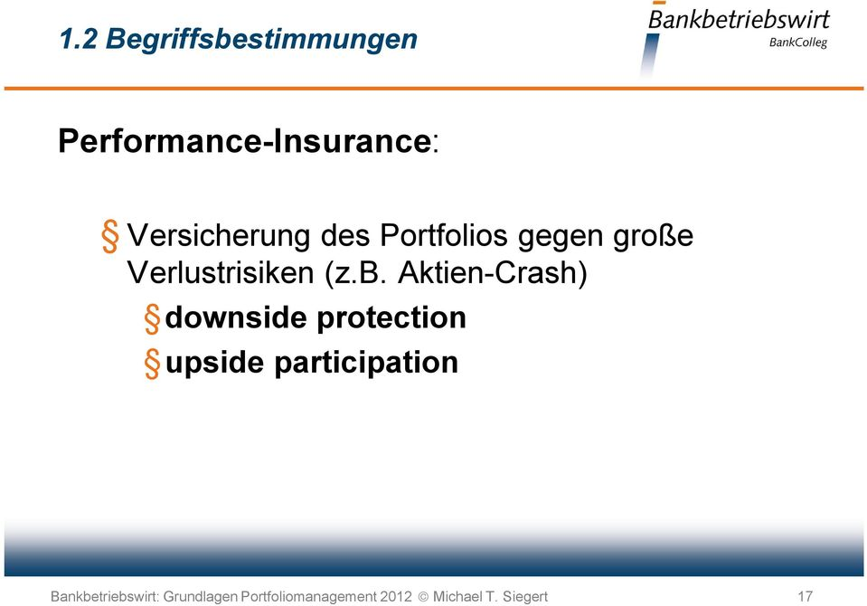 Aktien-Crash) downside protection upside participation