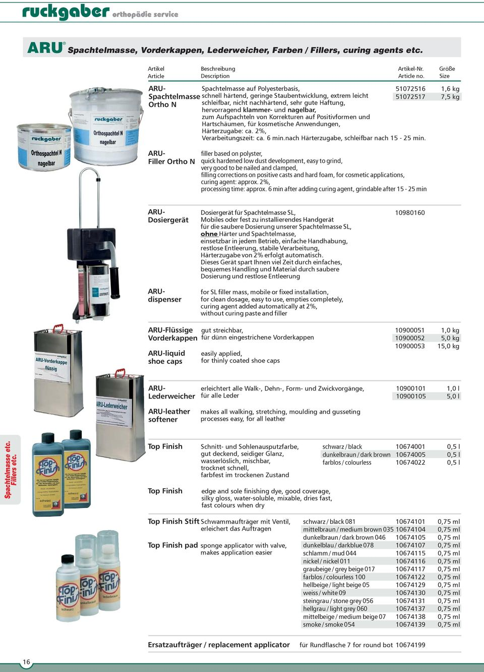 ARU. Chemische Produkte Chemical Products - PDF
