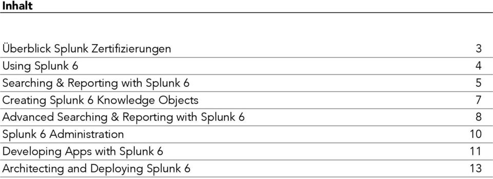 Advanced Searching & Reporting with Splunk 6 8 Splunk 6 Administration